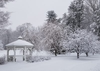 Court Road Gazebo Covered in Snow